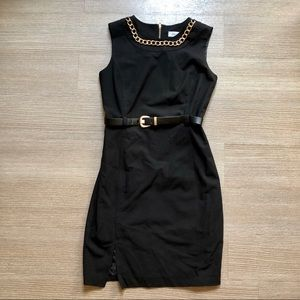 Calvin Klein Black Chain Dress